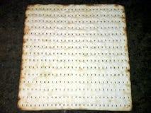 Closeup of sheet of matzoh stock image