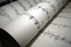 Closeup of sheet music Stock Photos