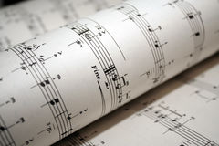 Closeup of sheet music Royalty Free Stock Photo