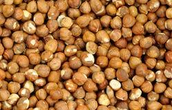 Closeup Shelled Hazelnuts Stock Photo
