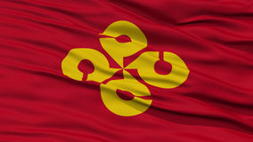 Closeup Shimane Japan Prefecture Flag. Waving in the Wind, High Resolution Stock Images