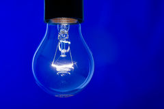 Closeup of shining lightbulb Royalty Free Stock Images