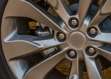 Shinny chrome aluminum wheel Stock Photo