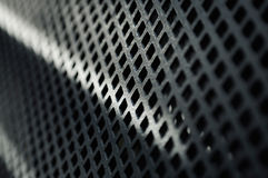 Closeup of shiny metal mesh Royalty Free Stock Photos