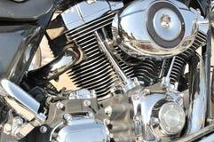 Closeup of shiny Motorcycle engine Royalty Free Stock Photography