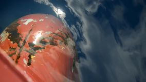Closeup of ship bulbous bow. Container transport. Industrial equipment. stock video