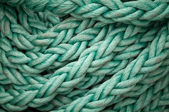 Closeup ship's rope texture Stock Images