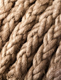 Closeup ship's rope texture Royalty Free Stock Photo