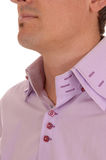 Closeup of a shirt collar. Royalty Free Stock Photo