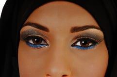 Closeup of eyes. Stock Photos