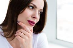 Beautiful stylish woman wearing jewelry. Closeup shoot of beautiful stylish woman wearing a set of jewelry stock images