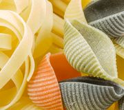 Closeup shoot of different types of pasta Stock Photo