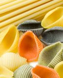 Closeup shoot of different types of pasta Stock Photos