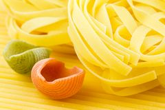Closeup shoot of different types of pasta Royalty Free Stock Image