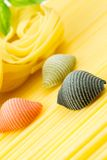 Closeup shoot of different types of pasta Royalty Free Stock Photography