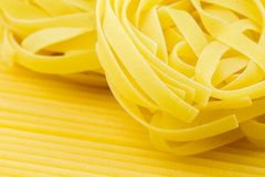 Closeup shoot of different types of pasta Stock Photography