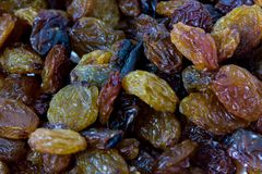 Closeup shoot of the dry raisins. Closeup shoot of the pile of organic dry raisins Royalty Free Stock Image