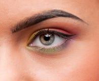 Closeup shoot eye make up zone Royalty Free Stock Photo