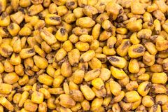 Closeup shoot of the fried corn. Closeup shoot of the pile of dry traditional corns Royalty Free Stock Images