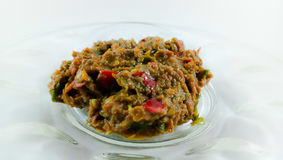 Closeup shoot for shrimp paste. Sambal belacan are mde from shrimp paste and chilli royalty free stock photo