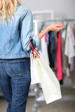 Closeup on shopping bags Stock Image