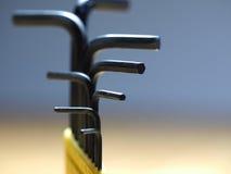 Closeup shot of allen keys Royalty Free Stock Images