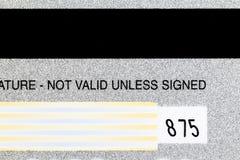 Closeup Shot Back Of Credit Card Detail Royalty Free Stock Images