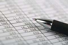 Closeup Shot Of Balance Sheet Royalty Free Stock Photography