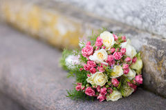 Closeup shot of beautiful wedding bouquet Stock Photo
