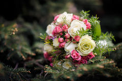 Closeup shot of beautiful wedding bouquet Royalty Free Stock Images
