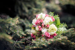 Closeup shot of beautiful wedding bouquet Royalty Free Stock Photo