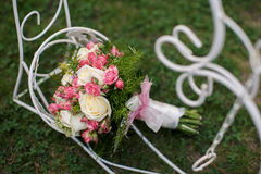 Closeup shot of beautiful wedding bouquet Royalty Free Stock Image