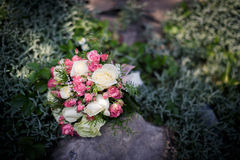 Closeup shot of beautiful wedding bouquet Stock Photos