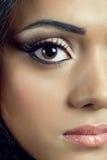 Closeup shot of a beautiful young woman's face Stock Images