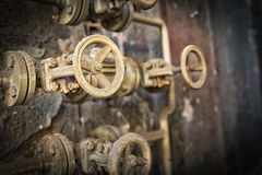 This is a closeup shot of big rusted valve Stock Photography