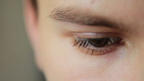 Closeup Shot Of Boy Eye stock video footage