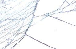 A closeup shot of a broken mirror. Stock Image