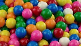 Pile Of Gumballs Closeup. Closeup shot of bubblegum balls rotating stock video footage