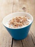 Buckwheat groats with milk Stock Images