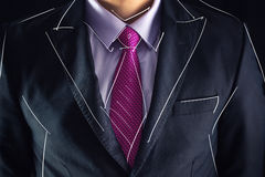 Closeup shot of business man on a suit and drawing sketch Stock Photography