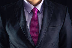 Closeup shot of business man on a suit Royalty Free Stock Images