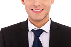 Closeup shot of business suit on a man Stock Photography