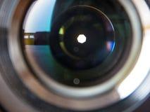 Closeup Shot of camera lens Stock Photography