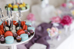 Closeup shot of a  candy bar decoration elements. Closeup shot of a wedding candy bar decoration elements Royalty Free Stock Images