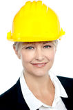 Closeup shot of contemporary construction engineer Royalty Free Stock Photos