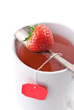 Closeup shot of cup of fruit tea Stock Photography