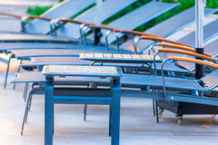 Closeup shot empty chairs Royalty Free Stock Photography
