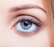 Closeup shot of female eye with day makeup Royalty Free Stock Photos