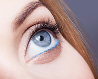 Closeup shot of female eye with day makeup Stock Photo