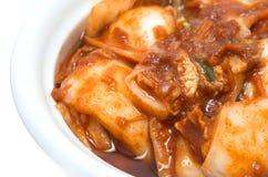 Closeup shot of fermented food Kimchi Royalty Free Stock Photo